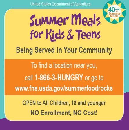 Finding Summer Food Service Program